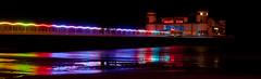 Weston Grand Pier at night (Daniel Durrans) Tags: longexposure light sea r