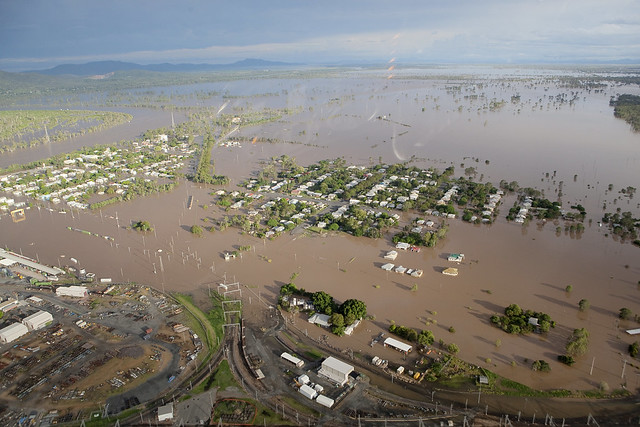 Queensland floods 2011. Some of the flood affected area in Queensland,
