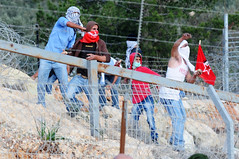 Bil'in Riot, Jan 2011 (Israel Defense Forces) Tags: army israel riot rocks westbank military israeli bilin idf palestinians firebomb palestinian securityfence borderpolice civilians rioters israeldefenseforces judeaandsamaria hurlingrocks