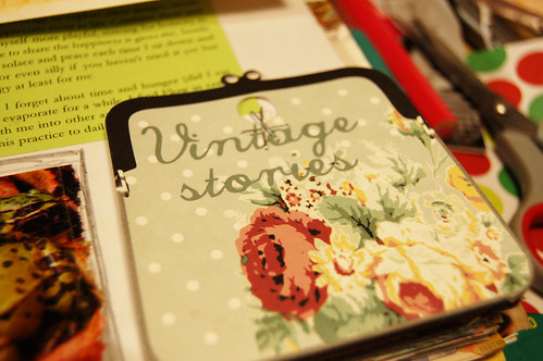 Cloth label: Vintage stories