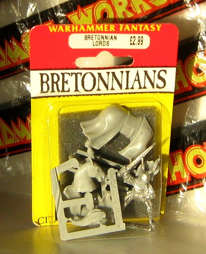 Warhammer Fantasy: Games Workshop's Bretonnians White Metal Figure and Horse - 2 of 2