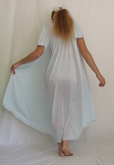 Miss Elaine Pale Blue Short Sleeved Nightgown 2 (mondas66) Tags: ruffles lace lingerie boudoir gown gowns lacy nylon nightgown sheer frilly nightgowns nightdress ruffle nightwear frill ruffled nightie lacework frilled nighties misselaine antron nightdresses frilling frillings befrilled