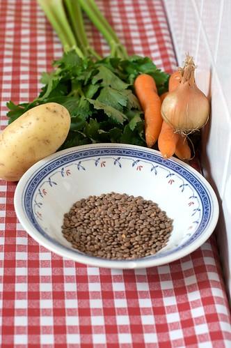 Verdure e lenticchie