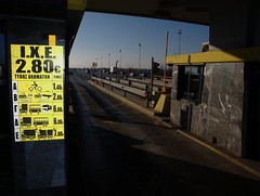 Angry Greek consumers take over road toll booths in protest over price hikes (Teacher Dude's BBQ) Tags: thessaloniki   stop greekeconomiccrisis malgaratollboths roadtollprotest