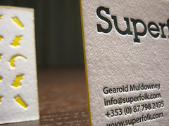 Superfolk Letterpress Cards (Edge Color)
