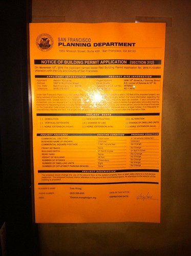 Planning permit, 18th and Dolores