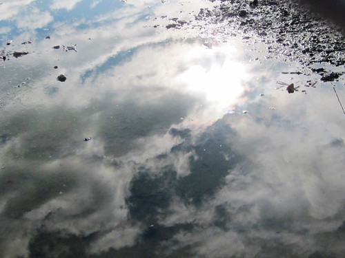 Reflection of the Sky in a Water Puddle