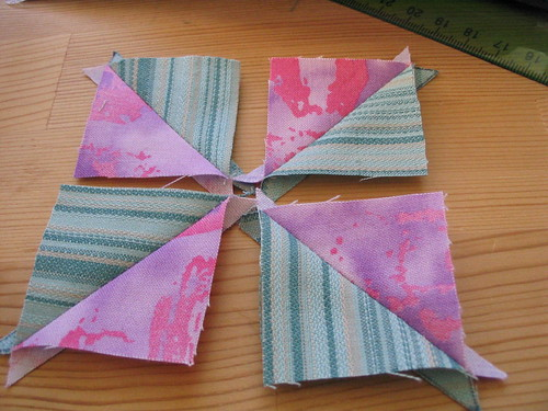 Pinwheel Block pieces