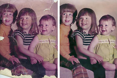 Conley Kids Side by Side Comparison (Stocktographer) Tags: color kids fix photo restored restoration damaged