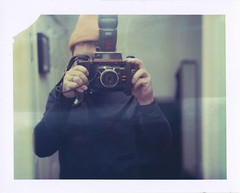 (jeffreywithtwof's) Tags: portrait film jeff hat yellow analog self canon polaroid flash instant hutton expired f4 702 packfilm 160s iduv jeffhutton 580exii konicainstantpress jeffhuttonphotography manualflash18 jeffreyhutton