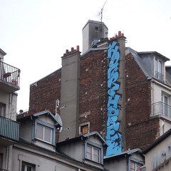 Hour / Horf (lepublicnme) Tags: streetart paris france rooftop square graffiti january pal carr 2011 horf horfe horph carrfranais palcrew