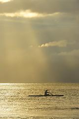 Alone (zdrombi) Tags: ocean light sun water beautiful hawaii see nikon kayak december pacific paddle wave maui clods d700