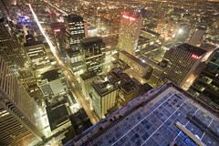 fly by (tomms) Tags: urban toronto night downtown citylights metropolis trump baystreet adelaidestreet