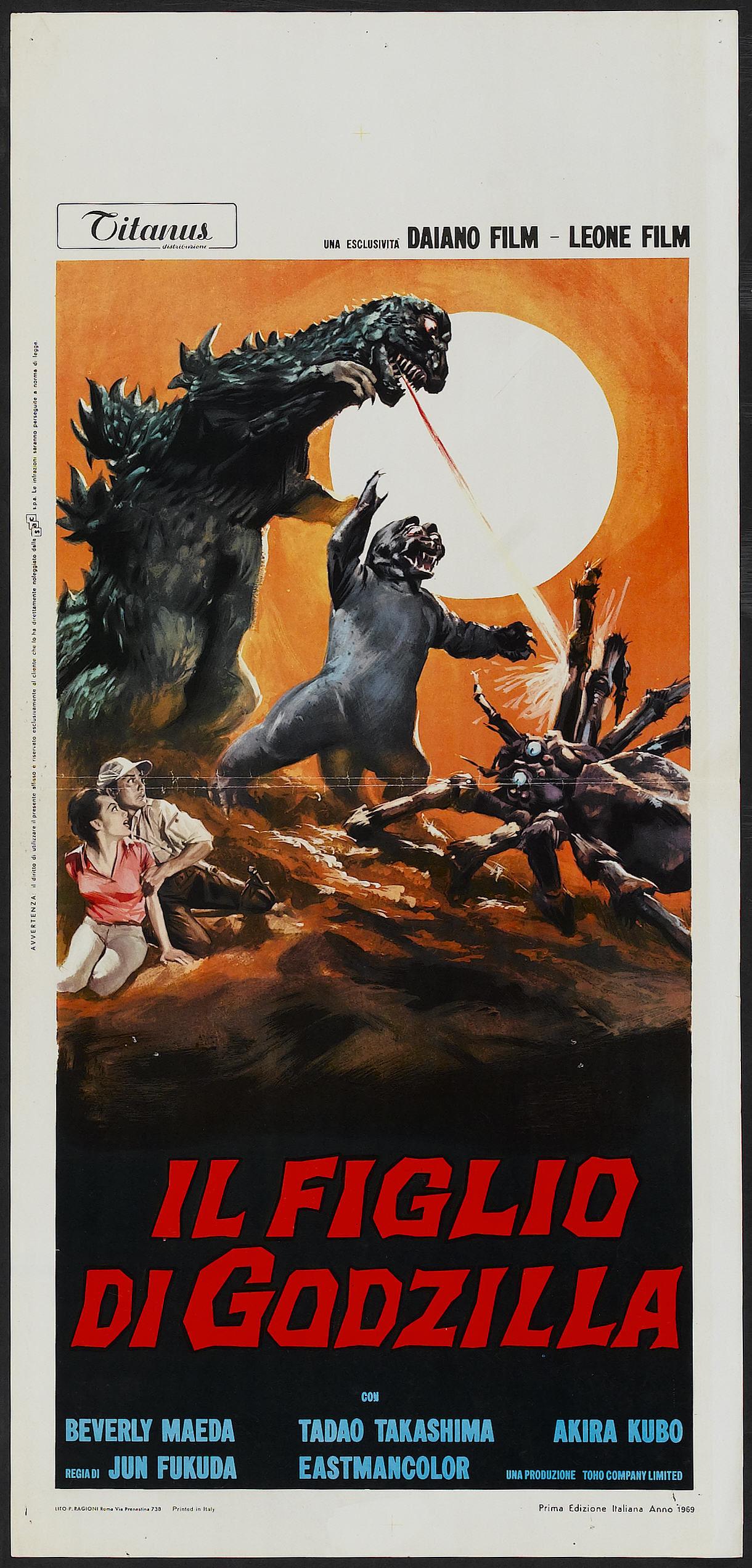 Son of Godzilla (Titanus, 1969). Italian