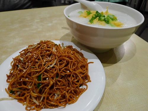Congee & fried noodles@Sunnybank Oriental