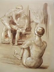 danzatrici (vincenzogreco) Tags: arte di mano venezia ritratti moderna vincenzo greco dipinti binnale capezzali vetrofusione