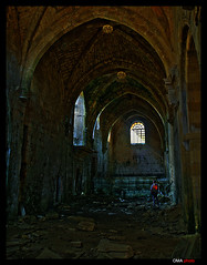 Light in the gothic ruins / Luz en la ruinas gticas. (OMA photo) Tags: light espaa luz spain ruins gothic ruinas burgos goticas santamariaderioseco