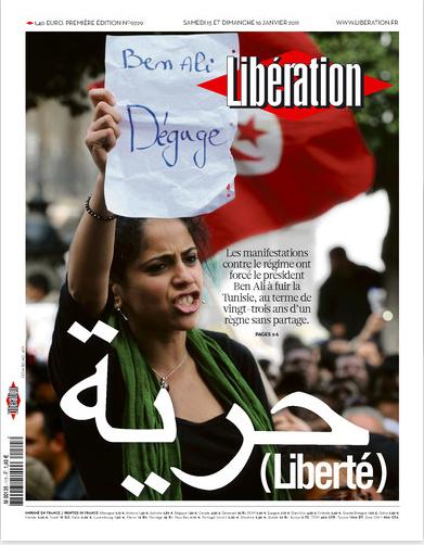 Portada del diario Liberation