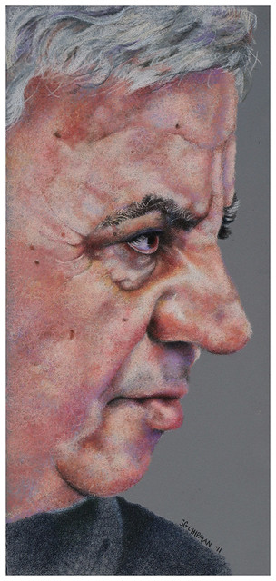 Colored pencil portrait entitled Erol, Profil II