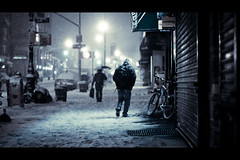 Astoria Storefront (Explored) (Dan Love) Tags: nyc newyorkcity snowstorm streetphotography queens astoria cinematic 169 canon50mmf14