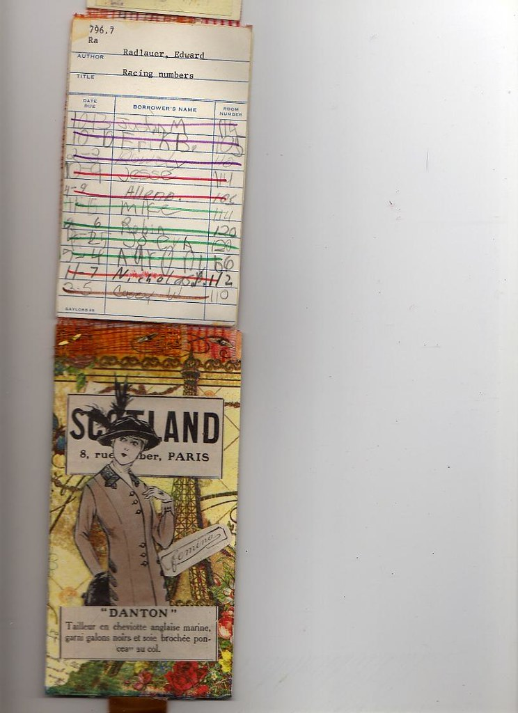 One side of sketchbook foldout strip