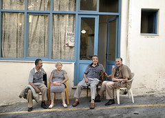 Old And Happy (Ben Heine) Tags: street door grandma friends wallpaper inspiration art window colors wall vintage project private happy photography hope freedom scenery couple energy exposure dof open friendship image pov lumière duo air curtain arts picture smiles happiness grandpa oldschool oxygen greece age liberté laugh wait quatro moment conceptual oldpeople capture avenue copyrights rue fenêtre rideau façade naxos amitié patience vie vitrine imagery ecosystem malice workflow lifetime postprocessing theartistery vieillard digitaltechnology creativecomposition asianrestaurant benheine socialportrait vieillepersonne samsungimaging nx10 benheinecom