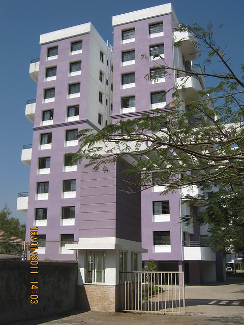 A wing of Orchid Towers, Ready Possession 2 BHK, 2.5 BHK, & 3 BHK Flats on Baner Road, Pune 411 045