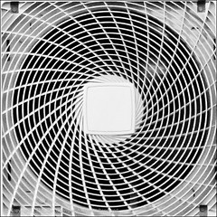 Spinning (*ian*) Tags: blackandwhite bw square fan pattern spin twist hampshire ventilator favourite ventilation extraction unit airconditioning extractor chandlersford bigemrg
