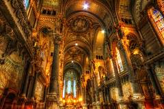 Notre Dame de Fourvire {EXPLORED - FrontPage} (Girolamo's HDR photos) Tags: light france church canon french photography lyon hdr girolamo photomatix tonemapping canoneos50d cracchiolo omalorig wwwomalorigcom gettyimagesfranceq1