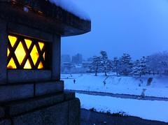 Kamo River (narinari884) Tags: snow kyoto