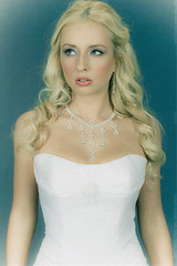 Irine (zar_kor) Tags: old wedding white cute film girl beauty fashion canon studio bride model dress grain style jewelry pearls retro diamond collection blond blondie nisan diadem 550d flekman