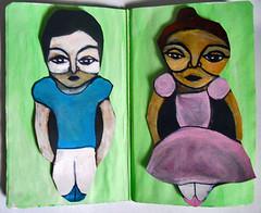 The Sketchbook Project 2011- ballet dancers