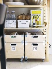 Pantry Storage Boxes w/ Casters (Heath & the B.L.T. boys) Tags: wood inspiration ikea silver box pantry recycle crate decorate casters gogreen