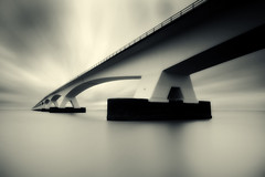 The Bridge (Kees Smans) Tags: splittone daytimelongexposure zeelandbridge bwnd110 keessmans wwwbwfineartcom