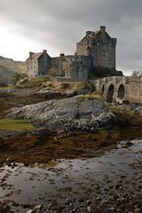 Overcast day at Eilean Donan Castle (sparkleshots (trying to catch up)) Tags: uk castle canon scotland europe scottishhighlands eileandonancastle