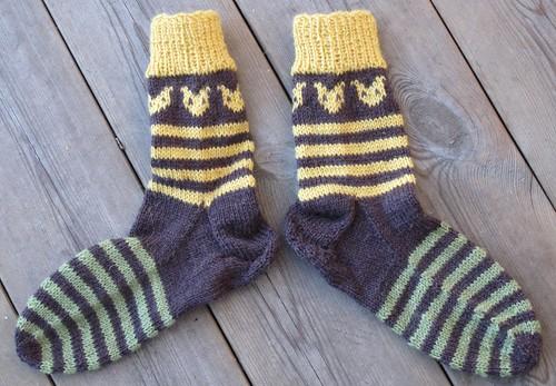 Sokker med revehoder
