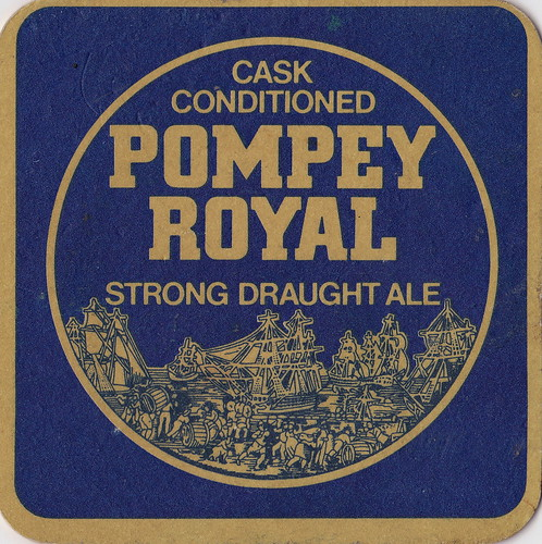 Pompey Royal Beer Mat by john lilburne