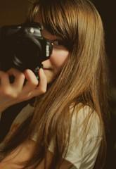 (Katrien612) Tags: camera selfportrait eye girl k hair 50mm nikon estonia nikkor portree eesti aperturepriority 2011 jaanuar af50mmf18d d5000