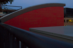 Rio Rooftop Abstract (brucetopher) Tags: twilight evening darkness light natural beauty beautiful rio mountain mountains riogrande restaurant rooftop window windows view vista abstract color red rby blue yellow sky curve curvy arch slope shape shapes block emotional arrow exciting invigorating form