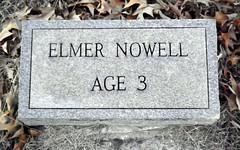 Elmer Nowell Headstone (MountainEagleCrafter) Tags: saint georgia andrew christian marker macon age3 churchchurchyardgraveyardcemeterydeadgravestoneheadstonegrave elmernowell birthanddeathdatesunknown