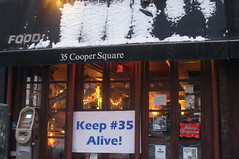 1.28.11 Rally, 35 Cooper Square, East Village