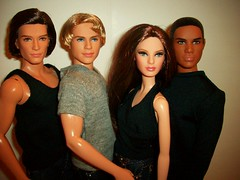The  Fabulous  Four !!! (napudollworld) Tags: model jean top 4 barbie muse collection again together mattel basic