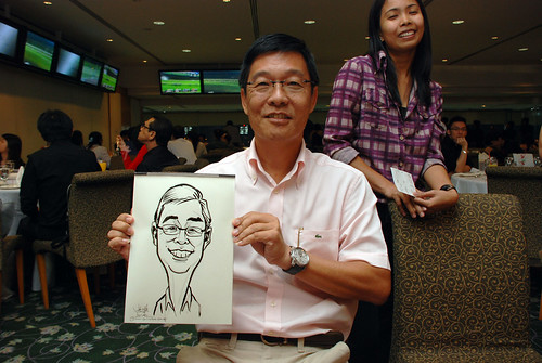 caricature live sketching for Thorn Business Associates Appreciate Night 2011 - 20