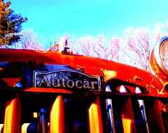 AUTOCAR truck [emblem] (sixty8panther) Tags: old tractor classic truck emblem logo nose lights diesel tag grill diamond ornament chrome american rusted hood trailer grille radiator silvester patina diamondt corroded bigred reo autocar pitted whitemetal marmon a sixty8panther humaj