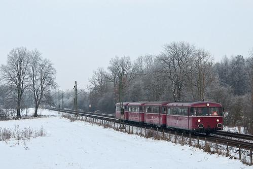Schienenbus-Sonderfahrt der Passauer Eisenbahnfreunde nach Garmisch