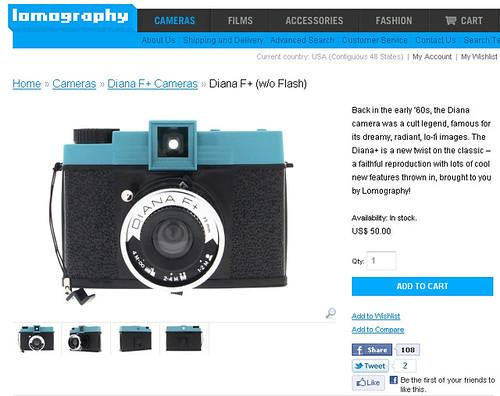DIANA+ camera / lomography.com