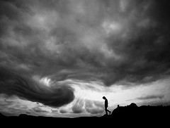 The Winds Of Change (Storms Of Your Life) (Tomasito.!) Tags: portrait sky people blackandwhite bw usa mountain selfportrait storm man art beach nature monochrome silhouette clouds rural america self painting walking landscape person 1 yahoo google interesting artwork nikon shoes flickr florida miami south magic hurricane philippines dramatic surreal monotone best jeans soil human storms cinematic drama winds powerful jt cyclone typhoon noriega tomasito d90 nikond90 mygearandme mygearandmepremium mygearandmebronze mygearandmesilver