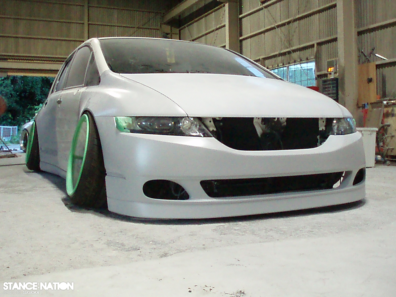 civic 4 door slammed