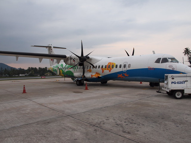 Bangkok Air ATR-72 at Koh Samui AP