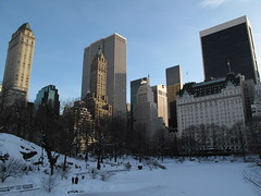 Frozen Pond (ty law) Tags: nyc winter snow newyork cold frozen pond centralpark plazahotel trumptower fifthavenue grandarmyplaza gmbuilding solowbuilding pierrehotel 9west57thstreet sherrynetherlands anothercentralparksnowwalk